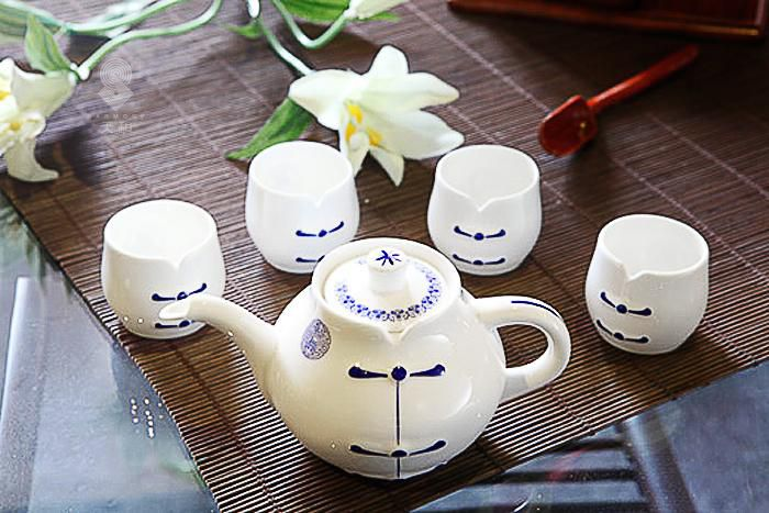 青花陶瓷茶具套装