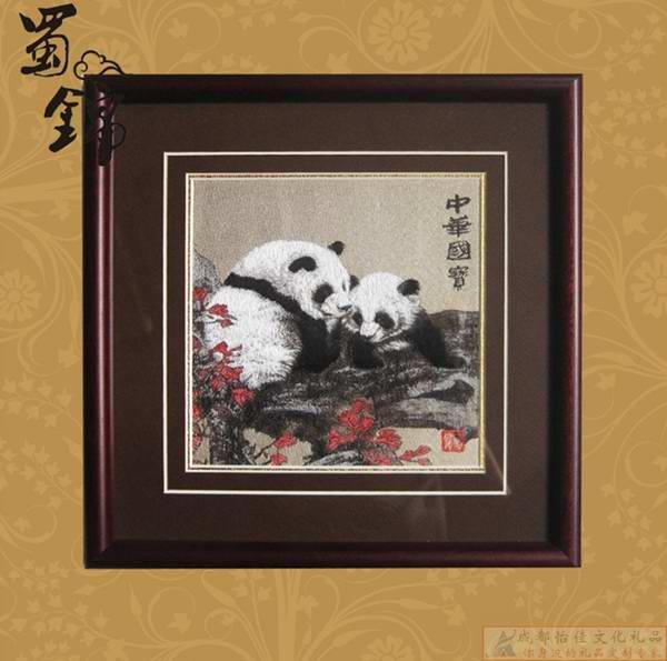 蜀锦蜀绣传统手工艺品 成都礼品