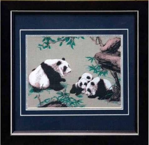 双十一熊猫蜀锦镜框特价促销活动