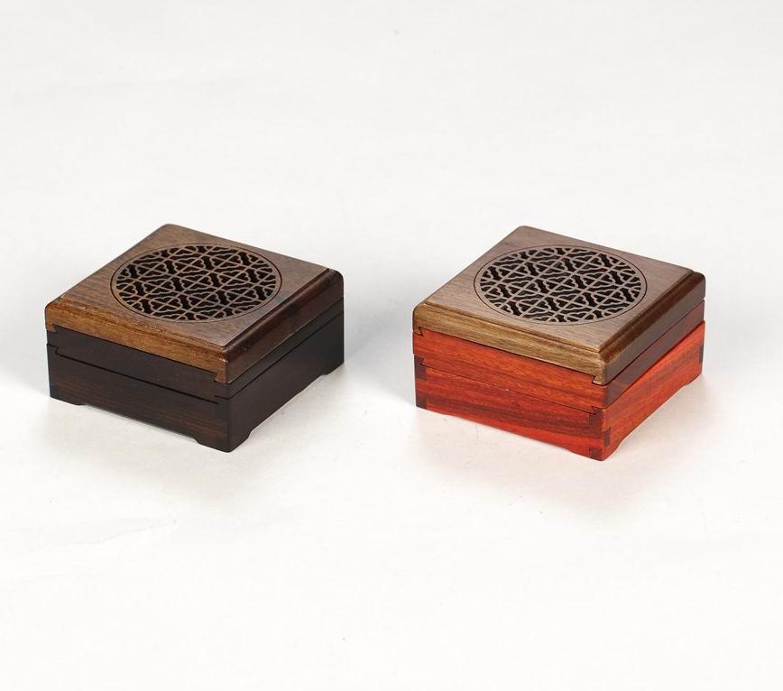 红木工艺礼品 自在便携香炉盘 红木礼品定制
