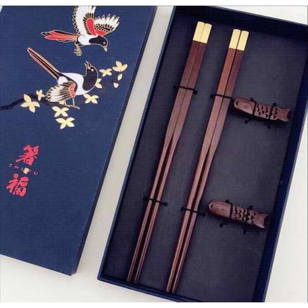红木礼品筷子礼盒套装 结婚乔迁礼物 酒店用品 红木筷子定制logo
